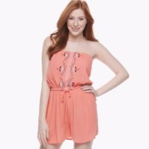 Speechless Coral Romper Size Large